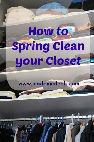spring clean closet