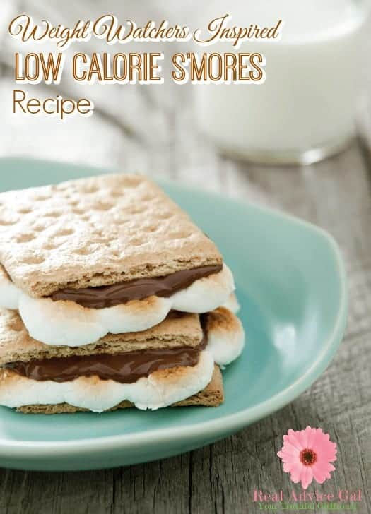 Enjoy dessert without guilt with this Weight Watchers Inspired Low Calorie S'mores recipe