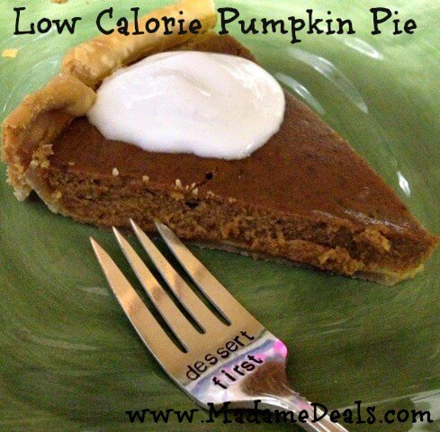 Dessert first when it is low calorie pumkin pie