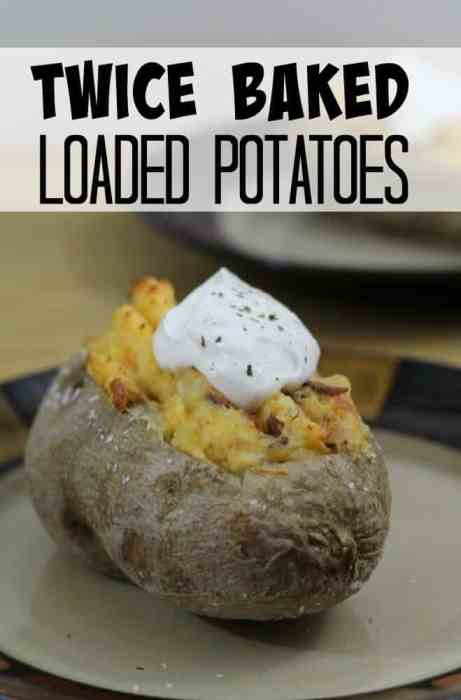 Twice Baked Loaded Potatoes are so delicious you will never bake your potaotes just one time ever again