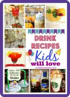 drink recipes kids