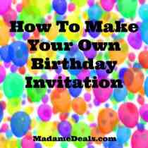 Make your own birthday invitation
