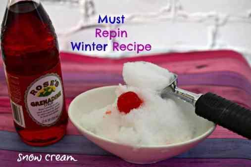 snow cream ice cream