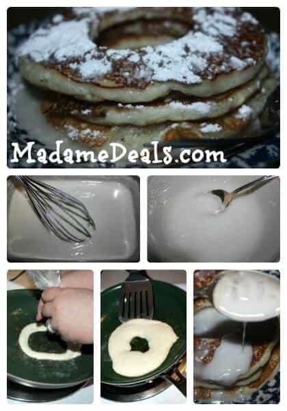 Powdered Doughnut Pancakes steps