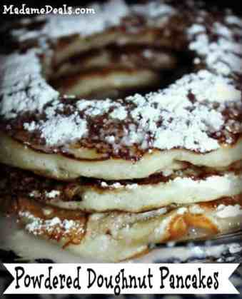 Powdered Doughnut Pancakes