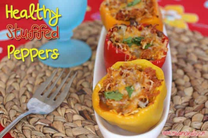 Healthy stuffed peppers with sausage