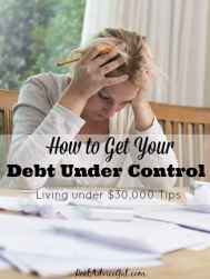 Smart money saving tips to get your debt under control.