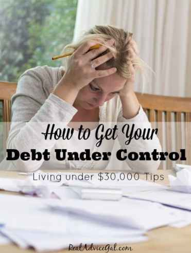 Smart money saving tips to get your debt under control.