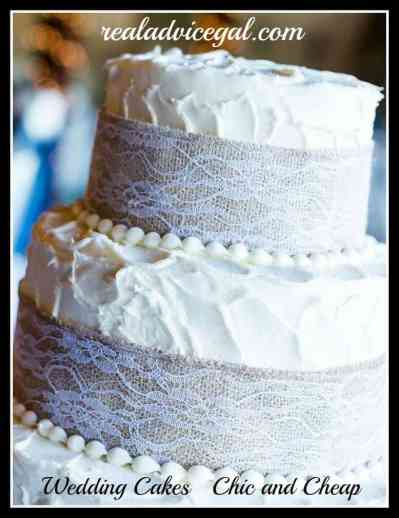 Wedding Cakes Chic and Cheap