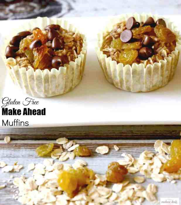 gluten free make ahead muffins