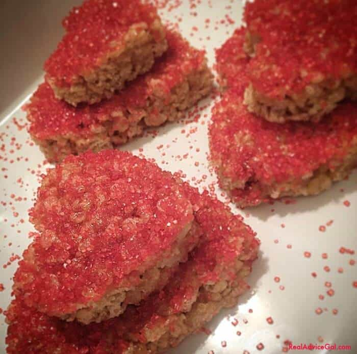 Heart Shaped Rice Krispies