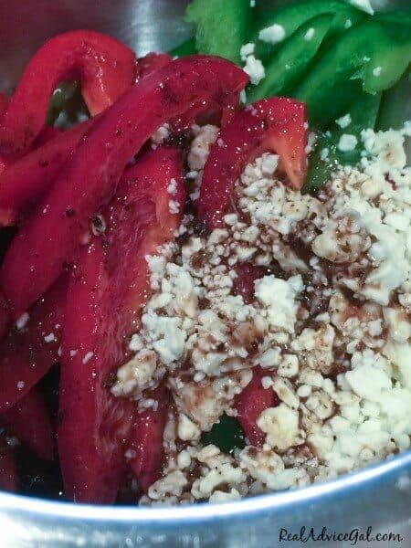 salad feta peppers dressing