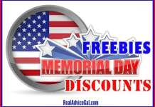 Memorial Day Military Discounts and Freebies