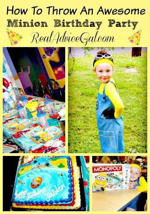 minion themed birthday party
