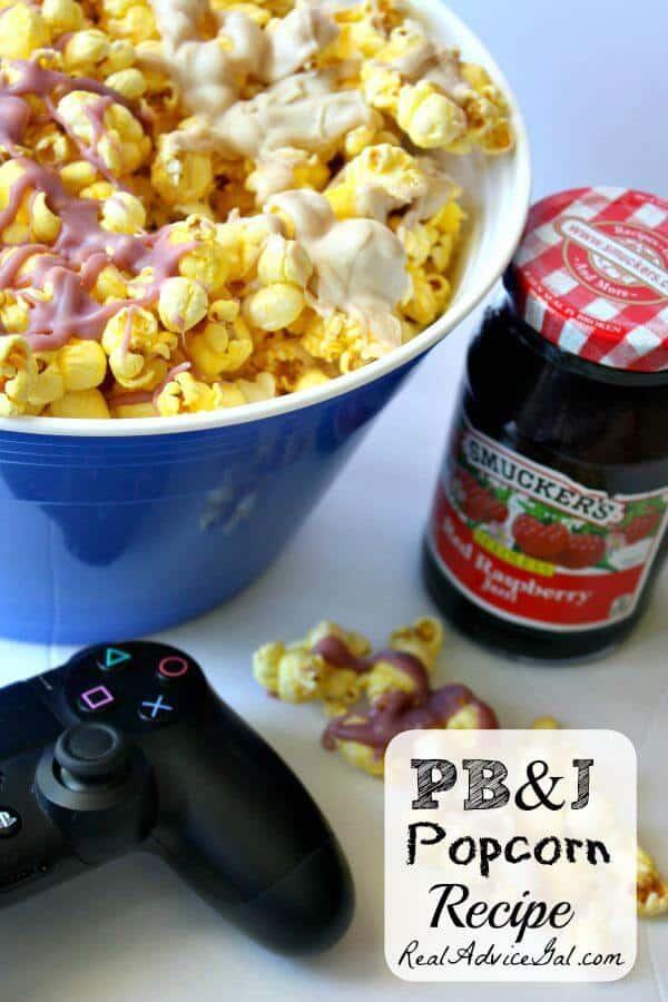 Pb&J popcorn recipe