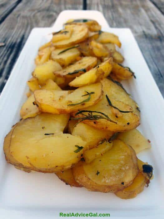 Oven Roasted Potatoes with Rosemary & Thyme