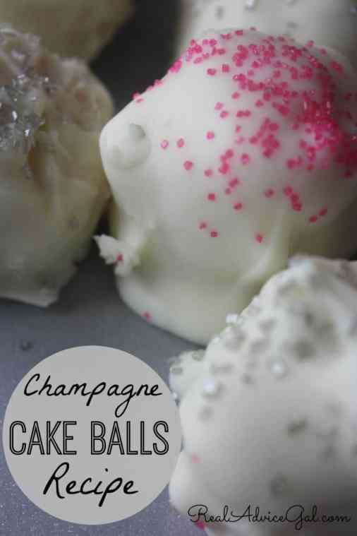 champagne cake balls recipe