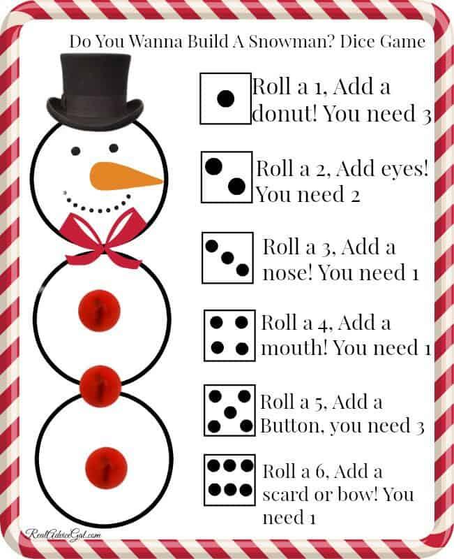 free printable build a snowman game