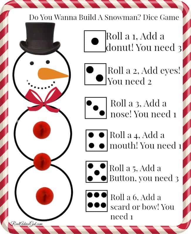 free printable build a snowman game