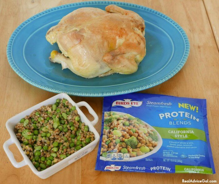 Birds Eye® Protein Blends a very easy vegetable side dish to compliment your main dish.