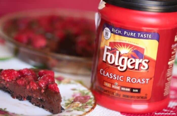 Easy Recipe for Ganache Cake with Folgers® Coffee