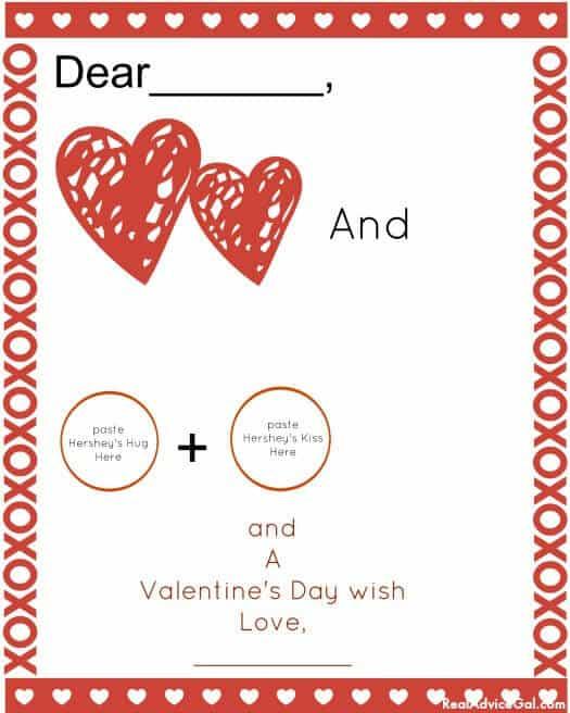 Hershey Valentine's day card