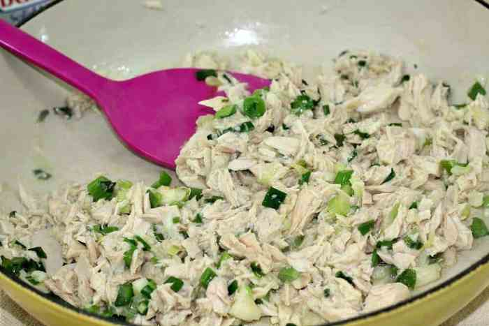 Saute onions, garlic, and tuna
