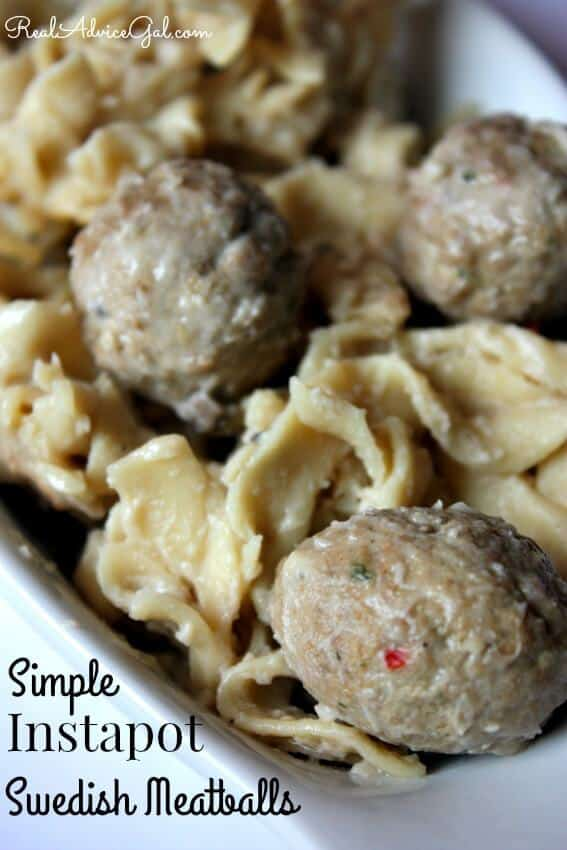 You are going to love this simple recipe for making Swedish Meatballs in your Instant Pot. Using frozen meatballs, mushroom soup, broth, egg noodles and sour cream.