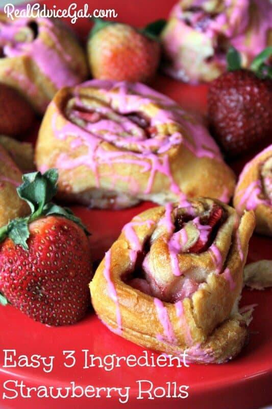 Easy 3 Ingredient Strawberry Rolls
