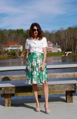 flower skirt on a budget