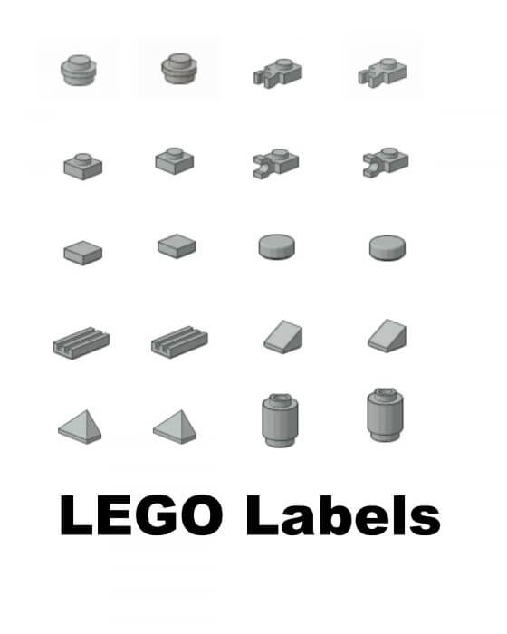 Free printable Lego Labels