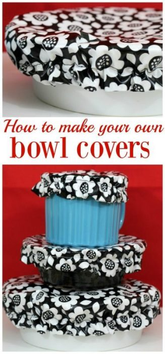 How to make your own washable reusable bowl covers. You do not need to be an expert seamstress to be able to sew these covers. Once you get in your groove you will be able to create many bowl covers in no time. They wear well and last a long time which will save you money. You won't need to buy expensive replacement lids or single use plastic covers.