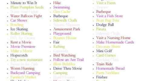 100 things to do this summer