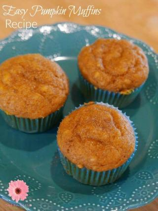 Fall is in the air which means it's time for pumpkin recipes. Try this Super Easy Pumpkin Muffins Recipe