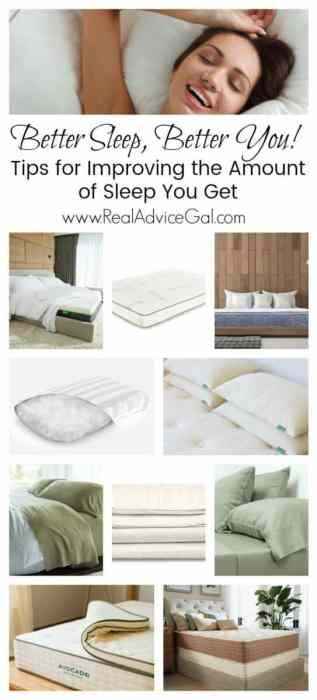 Get better sleep every night and get better you. Read these tips on how to improve your sleep and check out my picks of mattress, mattress toppers, pillows and beddings