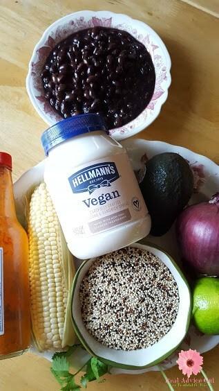 Black Bean & Quinoa Salad Recipe ingredients