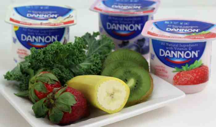 Yogurt is the key ingredient in any smoothe and especially if it is Dannon Whole Milk Yogurt