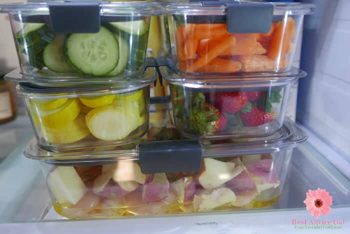 Rubbermaid Brilliance glass containers