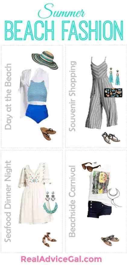 Summer clothes for beach getaway