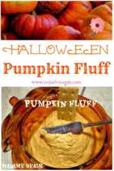 So delicious kids pumpkin fluff recipe for Halloween