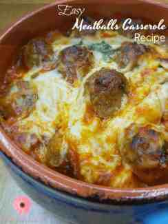 This meatball casserole recipe is the one that your family will keep on asking for. It's so delicious and unbelievably super easy to make.