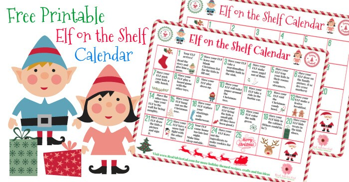 Are you excited for the funny and mischievous prank that your Elf on the Shelf will do this year? Get our free printable Elf on the shelf calendar