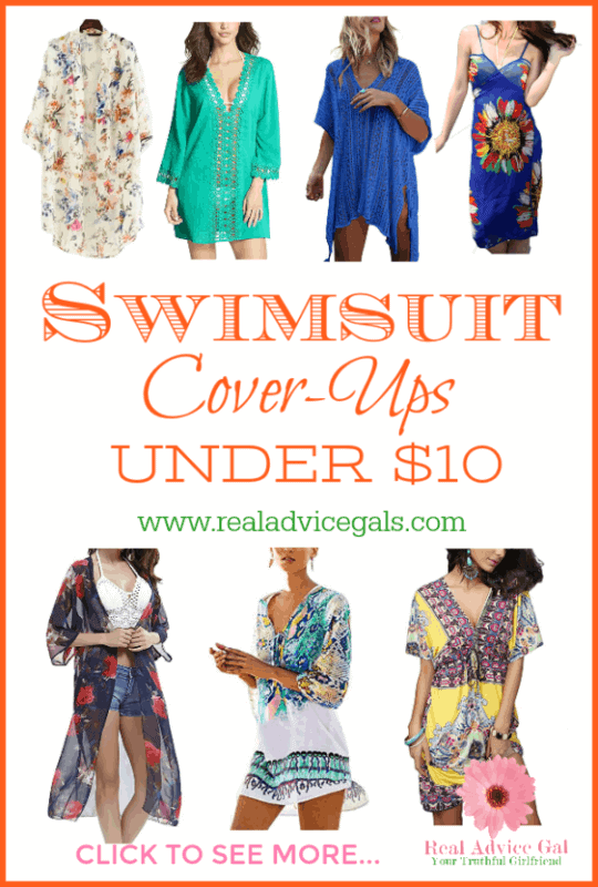Relax and enjoy the beach or pool with these stylish bathing suit cover ups under $10.