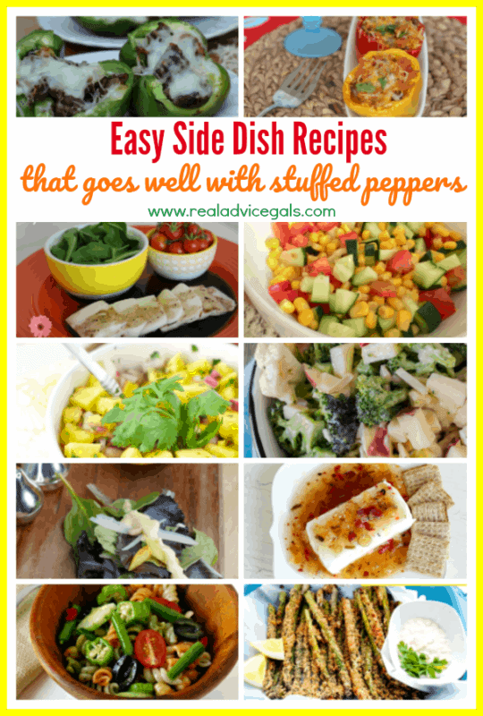 What to Serve with Stuffed Peppers? Here are some easy and tasty side dish recipes that goes well with stuffed peppers