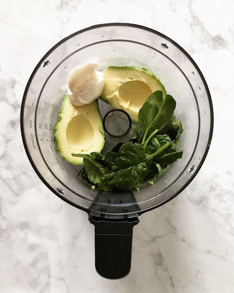 vegan-zucchini-fritters-avocado-dip-ingredients