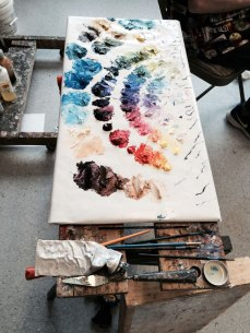 Oil paint palette.