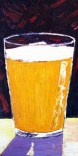 """Thirsty Thursday Beer Painting #30 by Scott Clendaniel. July 23, 2015. Palette Knife Oil Painting of Beer Pint. 12""""x24"""", oil on panel."""