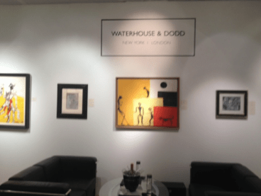Waterhouse & Dodd salon at The Salon: Art + Design Show.