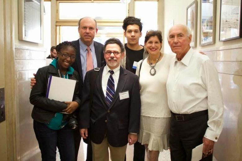 Left to right: teen award recipient, Gregg Schenker, (ABS) Steve Tennen- Exec Director, teen award recipient, Me,Earle Altman (ABS)