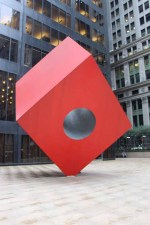 Noguchi Red Cube